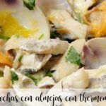 Cocochas with clams with Thermomix