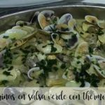 Coquinas in green sauce with thermomix
