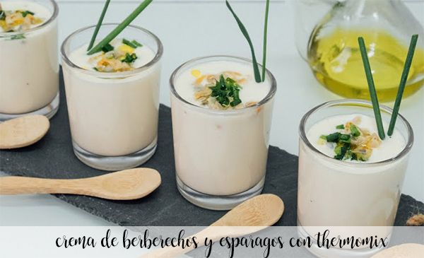 cream of asparagus with cockles with thermomix