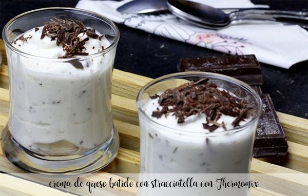 Whipped cream cheese with stracciatella with Thermomix