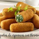 spinach croquettes with cabrales