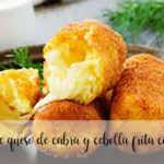 Goat cheese and fried onion croquettes with Thermomix