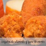 Sobrasada and thermomix cheese croquettes