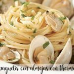 Spaghetti with clams with thermomix