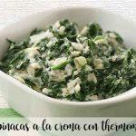 Spinach with thermomix cream