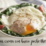Creamy spinach with poached egg with Thermomix
