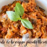 Spicy aubergine stew with Thermomix
