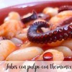 Beans with octopus with thermomix