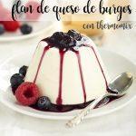 Burgos cheese flan