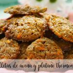 Oatmeal and banana cookies with Thermomix
