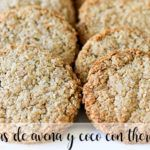 Oatmeal and coconut cookies with Thermomix