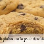 Banana cookies with chocolate chips with Thermomix