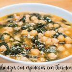 Chickpeas with spinach with Thermomix