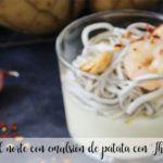 Gula del norte with potato emulsion with Thermomix