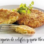 Cauliflower and cheese burger with Thermomix