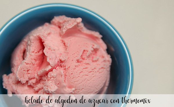 Thermomix cotton candy ice cream