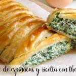Spinach and ricotta puff pastry with thermomix