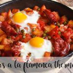 Flamenco eggs with thermomix