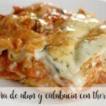 Tuna and zucchini lasagna with Thermomix