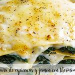 Spinach and ham lasagna with Thermomix