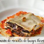 Burgos black pudding lasagna with thermomix