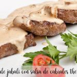 Wild boar loin with Cabrales cheese with Thermomix