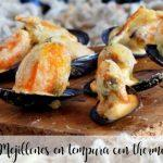 Mussels in tempura with Thermomix