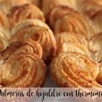 Puff pastry palms with thermomix