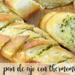Garlic and cheese bread with Thermomix