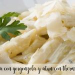 Pasta with gorgonzola and tuna with thermomix