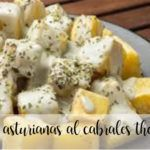 Asturian potatoes with Cabrales cheese with Thermomix