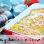Potatoes au gratin with the 3 Thermomix cheeses