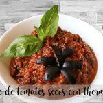 Pate of dried tomatoes with thermomix