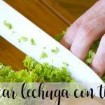 Trick: Chop lettuce with thermomix