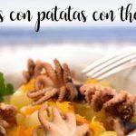 Octopus with potatoes with thermomix