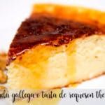 Galician quesada or cottage cheese cake with thermomix