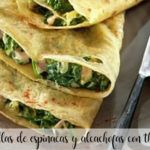 Spinach and artichoke quesadillas with thermomix