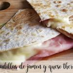 Thermomix ham and cheese quesadillas