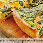 Salmon and spinach quiche with thermomix