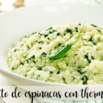 Spinach risotto with thermomix