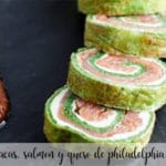 spinach, salmon and philadelphia cheese roll with thermomix