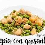 Cuttlefish with peas with Thermomix