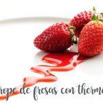 strawberry syrup with the Thermomix