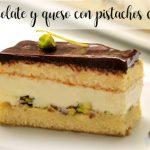 Chocolate and cheese cake with pistachios with thermomix