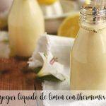 Lemon liquid yogurt with Thermomix