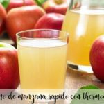 Quick apple juice with thermomix