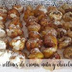 Wind fritters filled with cream, cream and chocolate with Thermomix