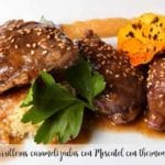 Caramelized cheeks with Muscat with thermomix