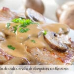 Pork chops with mushroom sauce with thermomix