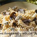 Fusilli with mushrooms and cream with Thermomix